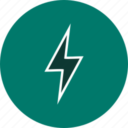 bolt, lightning, lightning button icon