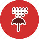 protection, rain, raning, umbrella icon