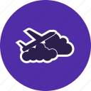 airplane, cloud, plane, travel icon