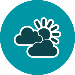 cloud, mostly cloudy, sun and clouds icon