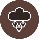 cloud, cloudy, presipitation, rain icon