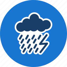 cloud, dark ray, lightning, rain icon