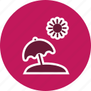 beach, beach umbrella, umbrella, vacation icon