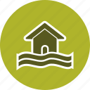 flood, flood symbol, warning icon