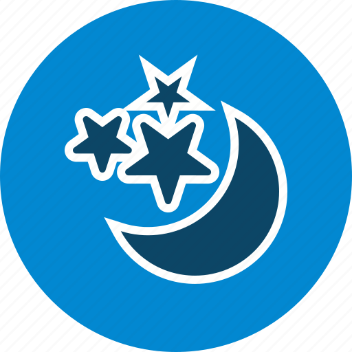 moon and stars, night, stars icon