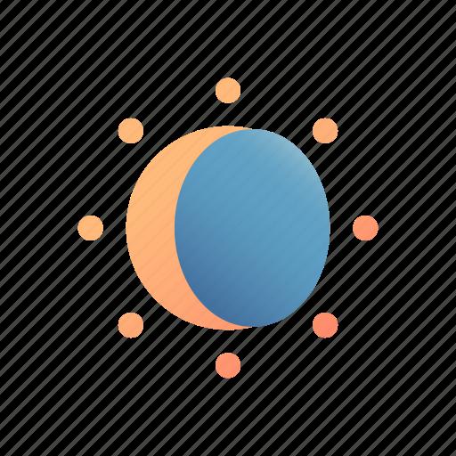 Eclipse, sun, astronomy, moon, silhouette, phenomenon, ecliptic icon - Download on Iconfinder