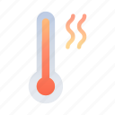 high, temperature, thermometer, measurement, tool, climate, hot