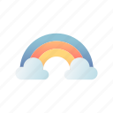 rainbow, sky, colorful, rain, cloud, phenomenon, after rain