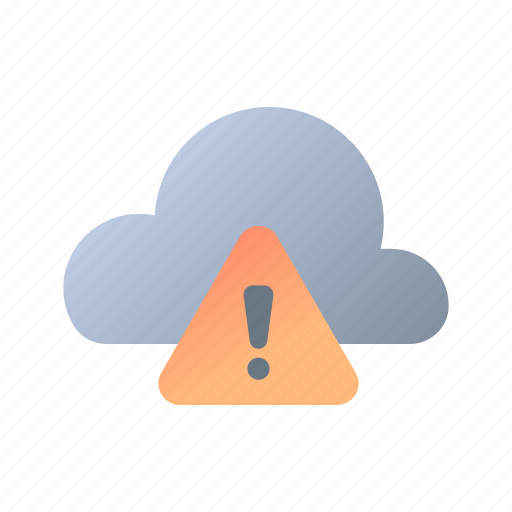 Weather, warning, meteorology, black cloud, overcast, exclamation, notification icon - Download on Iconfinder