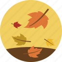 autumn, fall, leaves, weather icon