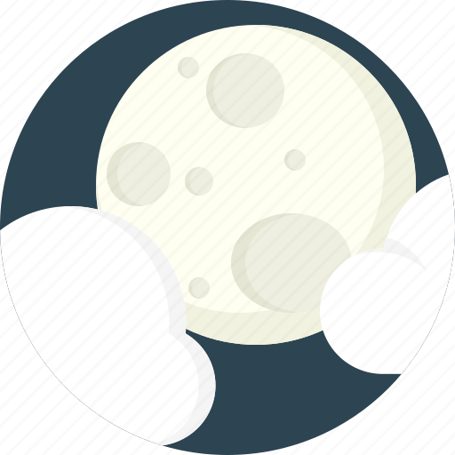 cloud, cloudy, moon icon