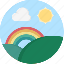 cloud, rainbow, sun, weather