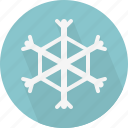 snow, snowflake, weather icon