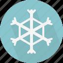 snow, snowflake, weather