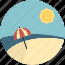 beach, sea, summer, sun, umbrella, weather