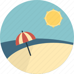 beach, sea, summer, sun, umbrella, weather icon