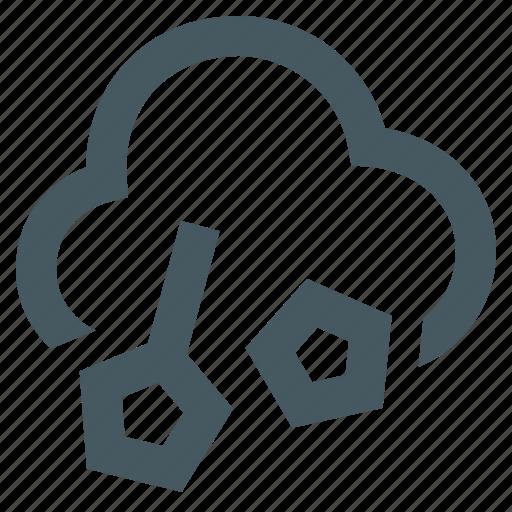 gizmo, hail, season, simple, weather, weather app icon
