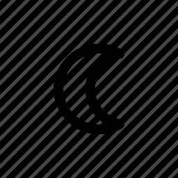 moon, night, planet icon