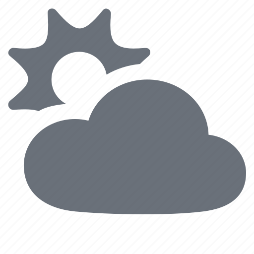 cloud, cloudy, forecast, pika, season, simple, sun, sunshine, weather icon
