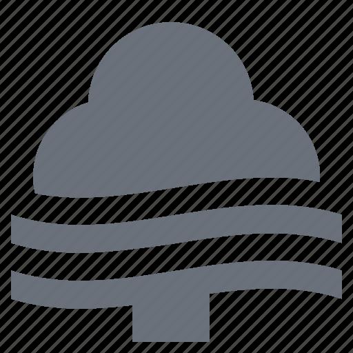 fog, foggy, forecast, mist, pika, season, simple, tree, weather icon