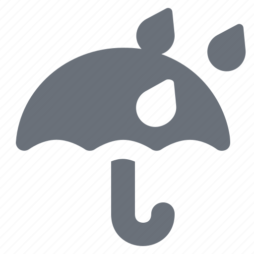forecast, keep dry, pika, rain, rainy, season, simple, umbrella, weather, wet icon