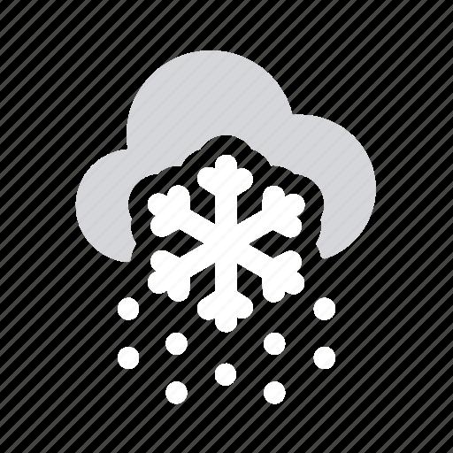 apple, blizzard, ios, snow, snowflake, weather icon