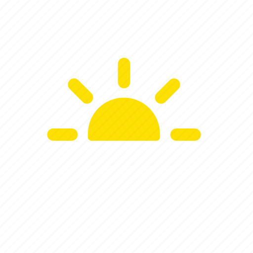 apple, haze, heat, ios, low visibility, sun, weather icon
