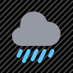apple, ios, night, rain, raindrops, weather icon