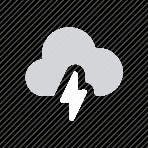 apple, ios, lightning, severe thunderstorm, storm, weather icon