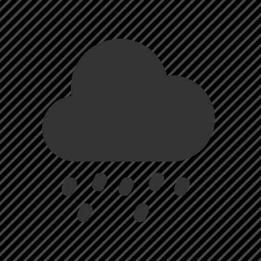 apple, drizzle, ios, rain, raindrops, weather icon