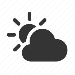 apple, cloud, cloudy, nebulosity, partly cloudy, sun, weather icon