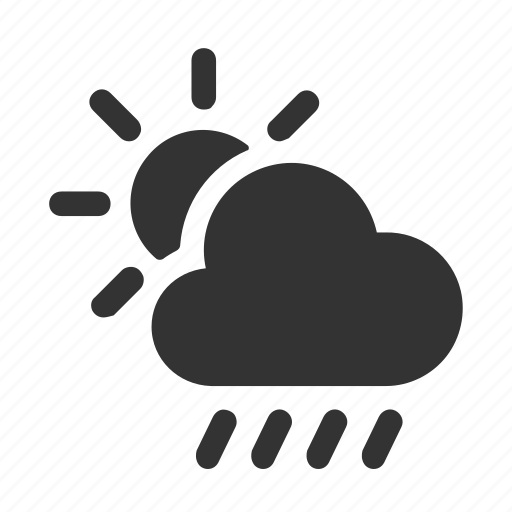 apple, ios, rain, raindrops, scattered showers, weather icon