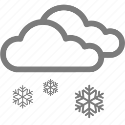 cloud, cloudy, snow, snowy, weather, winter icon
