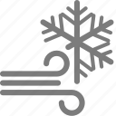 snow, snowy, weather, wind, windy, winter icon
