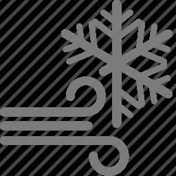 snow, snowy, weather, wind, windy, winter icon