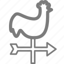 chicken, weather icon