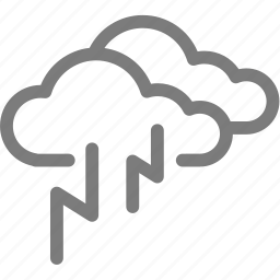 cloud, cloudy, lightning, thunder, thunderbolt, weather icon