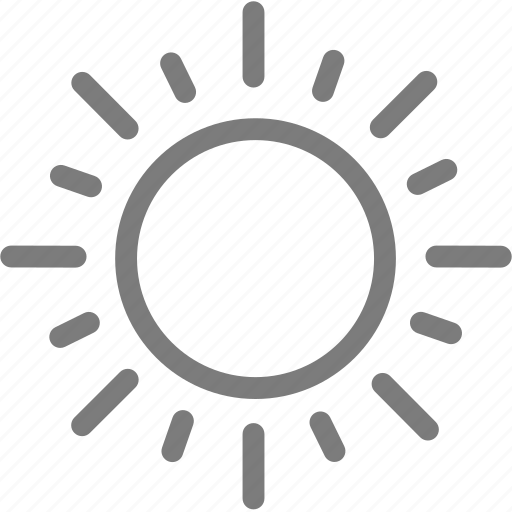 sun light, sunlight, sunny, sunshine, weather icon