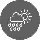cloud with sun, rain, summer icon