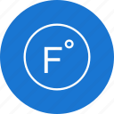 degree, farenheit, temperature icon