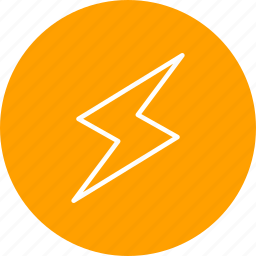 bolt, energy, lightning, lightning button icon