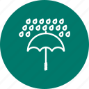 rain, raning, umbrella icon