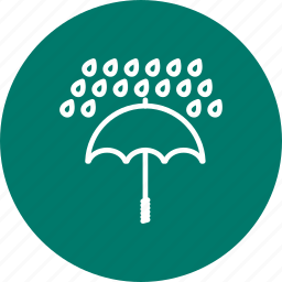 protection, rain, raning, umbrella, weather icon