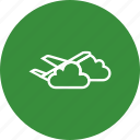 airplane, cloud, plane icon