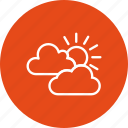 cloud, mostly cloudy, sun and clouds, sunny icon