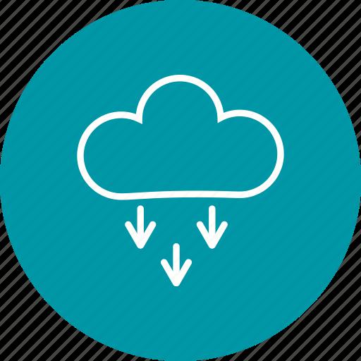 cloud, cloudy, presipitation, rain icon