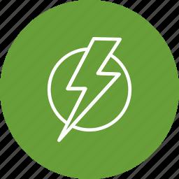 bolt, electric shock, lightning icon
