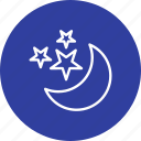 moon, moon and stars, night icon