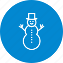snow man, snowman, winter icon