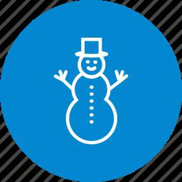 snow, snow man, snowman, winter icon